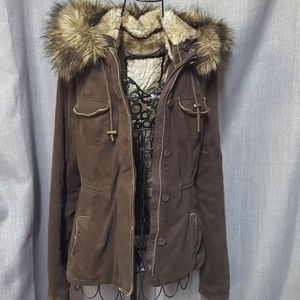 Abercrombie Fur Lined & Hooded Jacket Coat